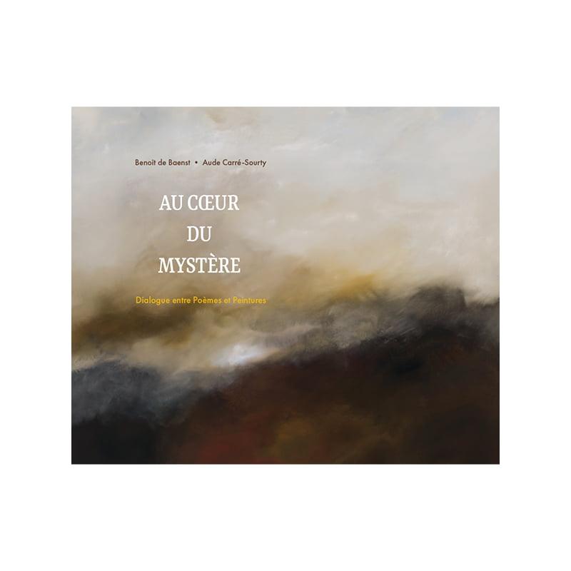 Couverture du livre Au coeur du Mystère créé par Frédérique Hayaux du Tilly, graphiste designer c com'créa