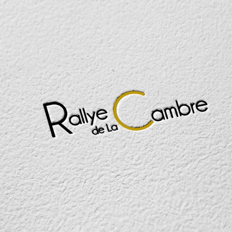 Logo Rallye de la Cambre, création de Frédérique Hayaux du Tilly, graphiste designer de c com'créa