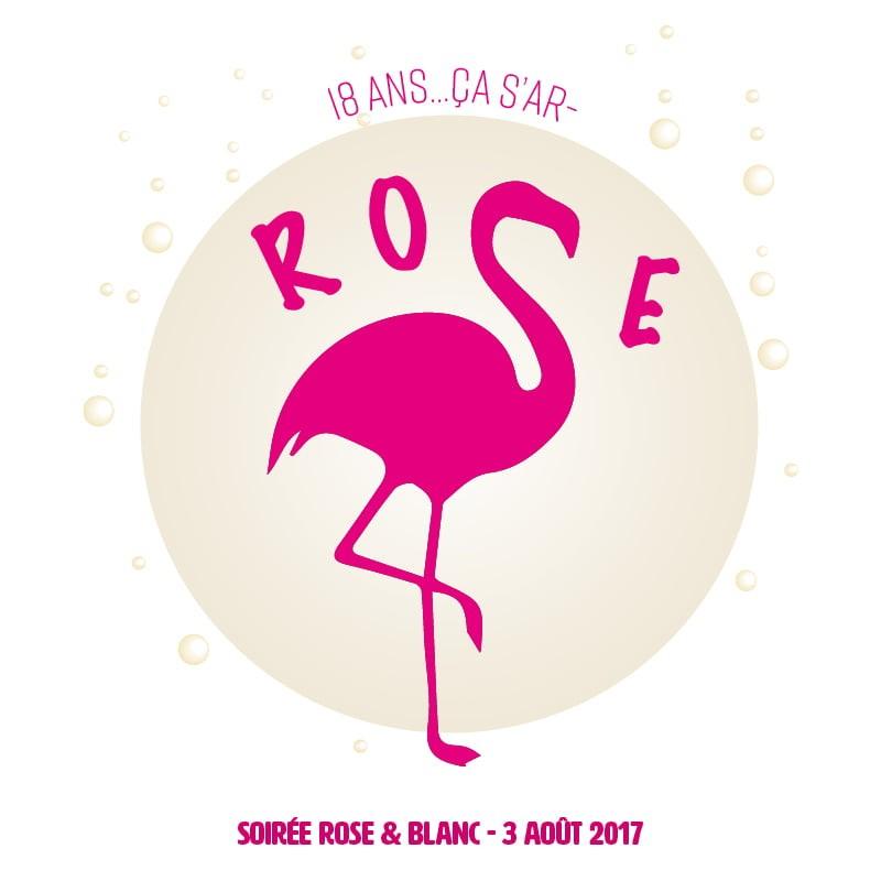 Logo Flamand Rose 18 ans créé par Frédérique Hayaux du Tilly, graphiste designer de c com'créa