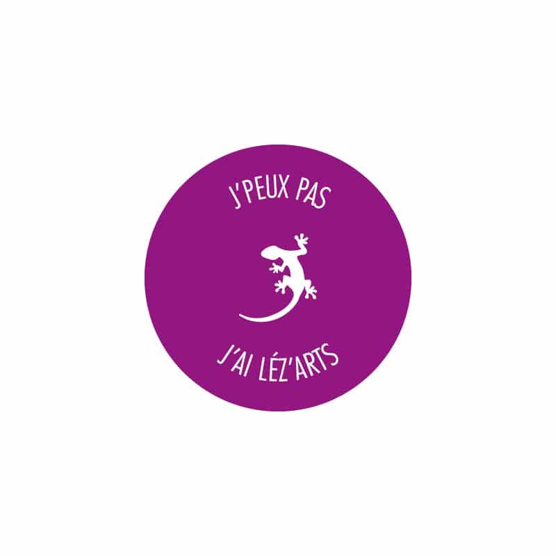 Logo J'peux pas j'ai léz'arts, création de Frédérique Hayaux du Tilly, graphiste designer de c com'créa