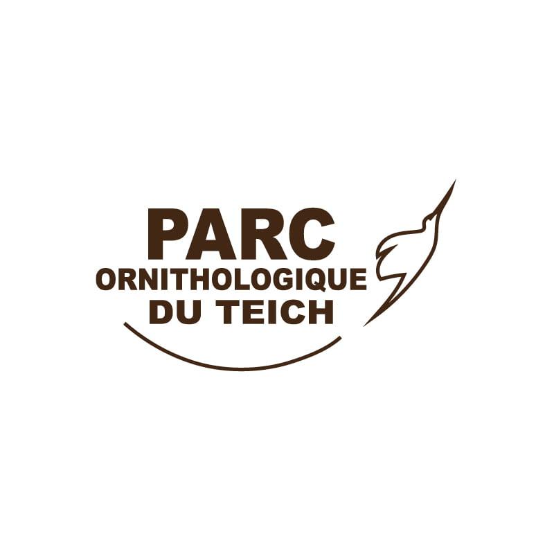 Logo Parc ornithologique du Teich créé par Frédérique Hayaux du Tilly, graphiste designer de c com'créa