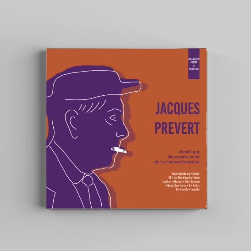 pochette de CD Jacques Prévert, création de Frédérique Hayaux du Tilly, graphiste designer c com'créa