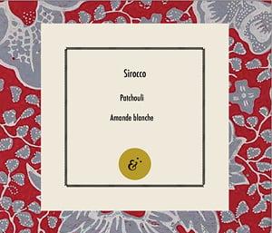 Page parfum Sirocco, extrait du coffret Essences Absolues, création de Frédérique Hayaux du Tilly, graphiste designer c com'créa