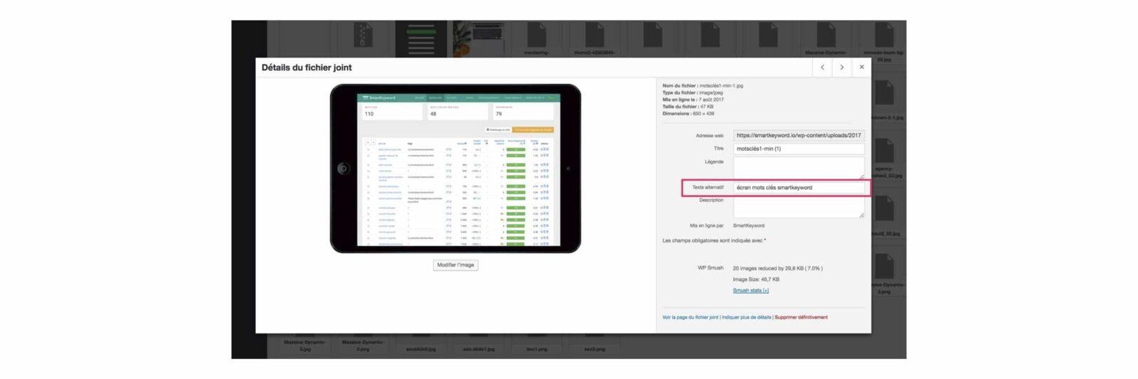 insérer une balise alt pour chaque image pour optimiser le SEO référencement de son site par c com'créa