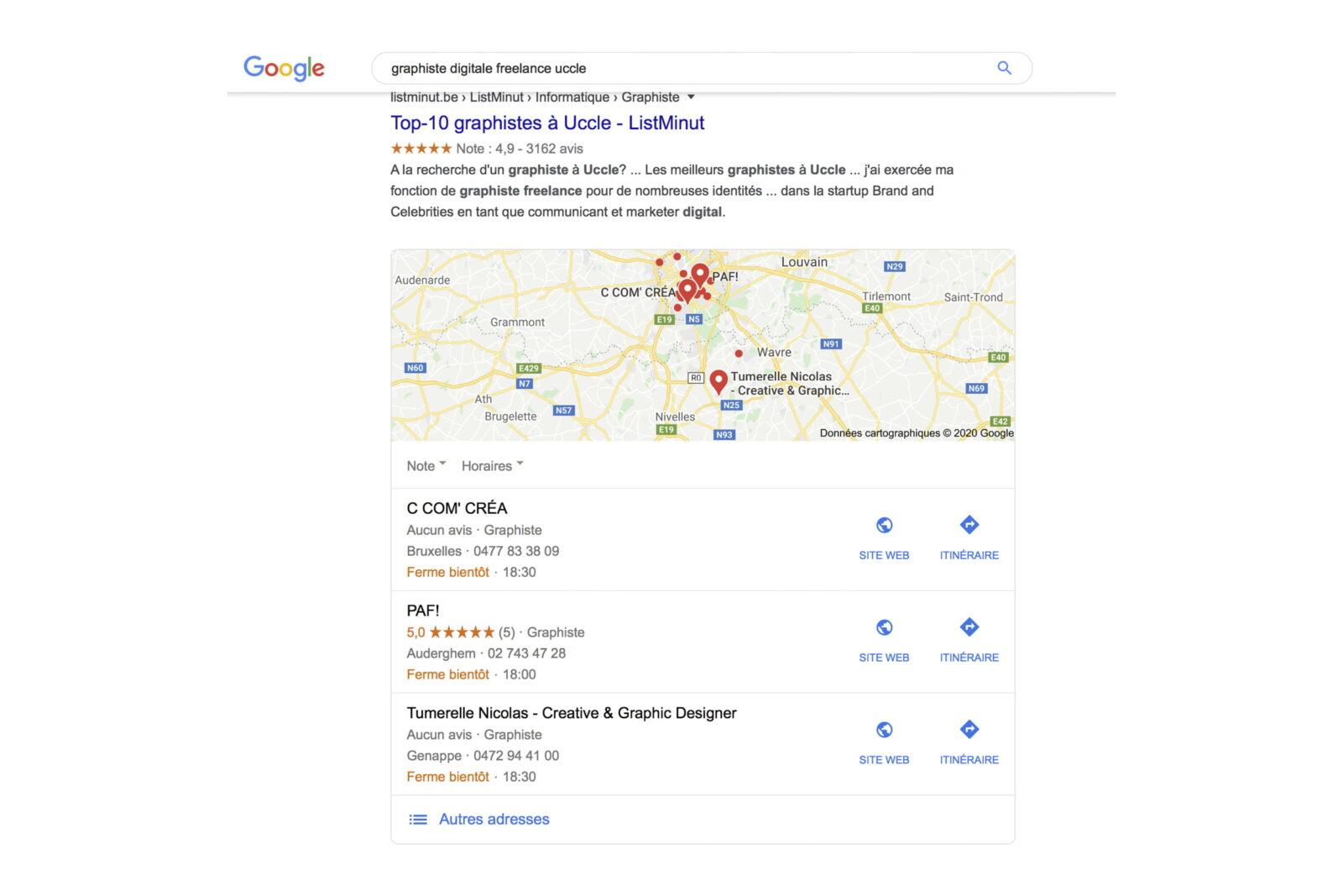 s'inscrire sur Google my business pour optimiser le référencement SEO de son site par c com'créa