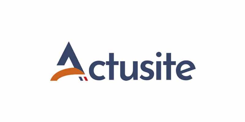 logo Actusite, client de C Com'Créa