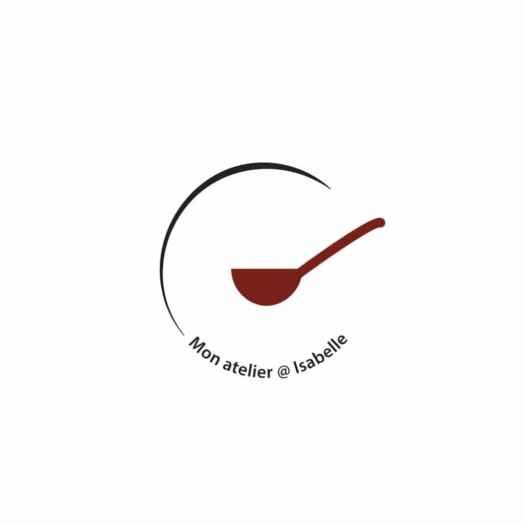 nouvelle création graphique logo monatelier@isabelle de C Com'Créa