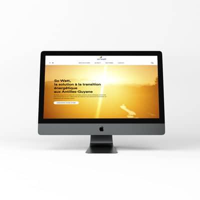 site sowatt energy, création web design de C Com'Créa