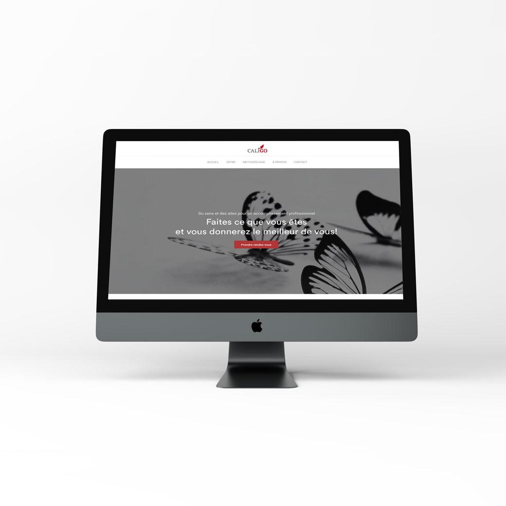 Caligo Conseil, création web design de C Com'Créa