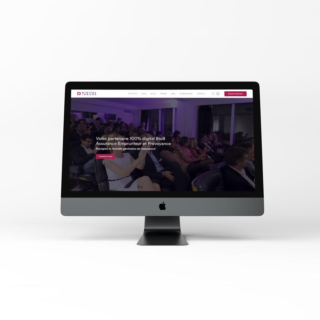 site Digital Insure, création web design de C Com'Créa