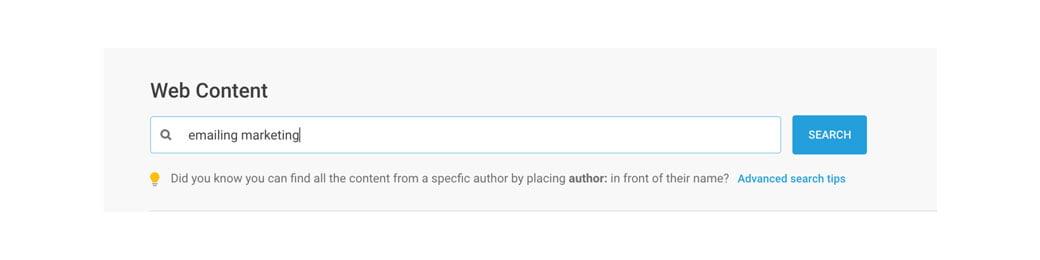 Renseigner un mot clé pour trouver les posts qui ont fait le buzz, un outil de la Web Box de C Com'Créa