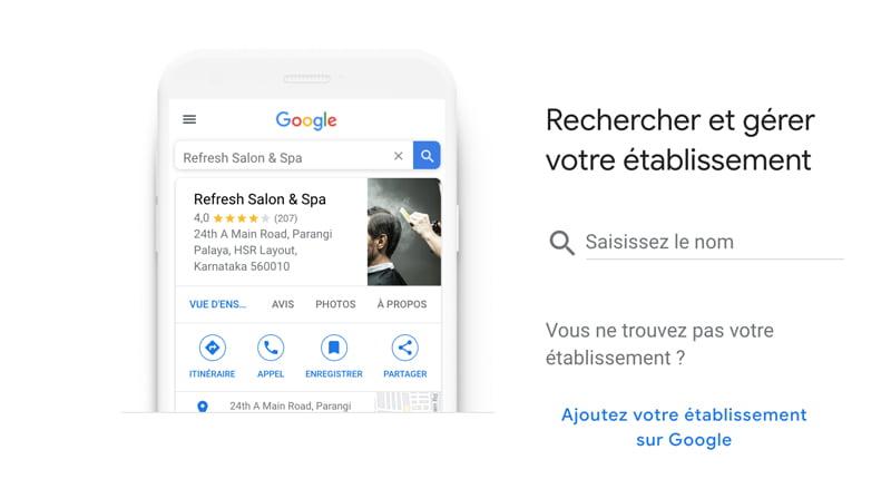 Comment ajouter un établissement sur Google My business