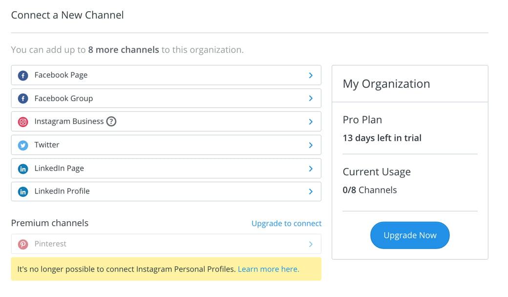 Connecter ses comptes réseaux sociaux dans Buffer, un outil de la web box de C Com'Créa