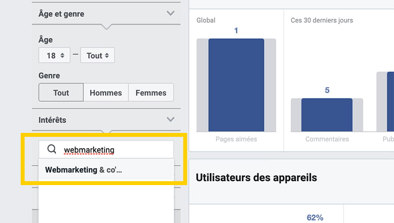 Analyser les pages de ses concurrents dans Facebook Audience Insights