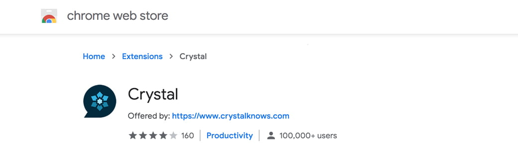 l'extension chrome Crystal Knows