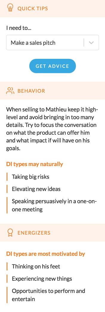 l'analyse de personnalité de Mathieu partie 2