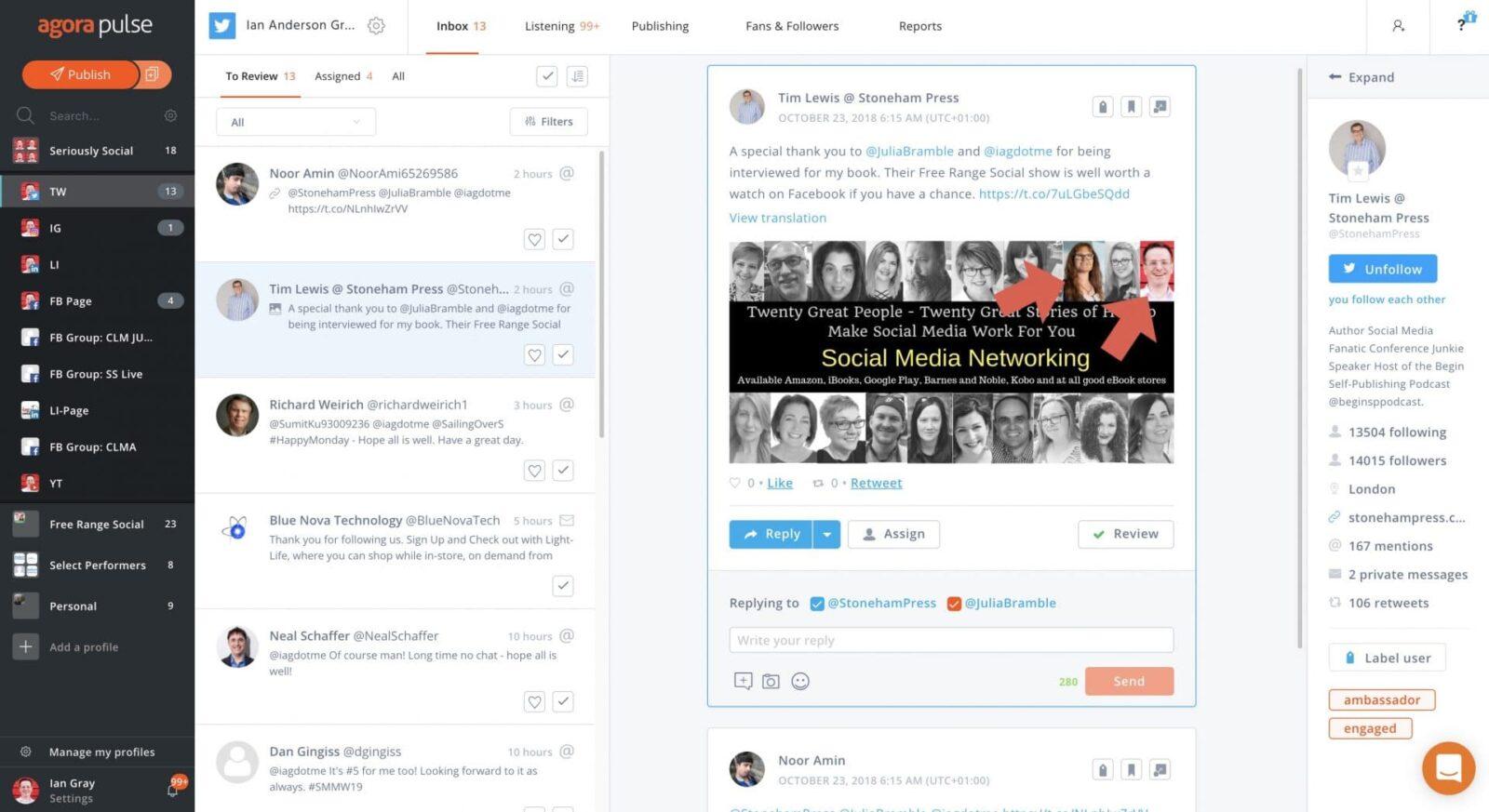 agorapulse un tout en un idéal pour une PME pour la gestion des réseaux sociaux