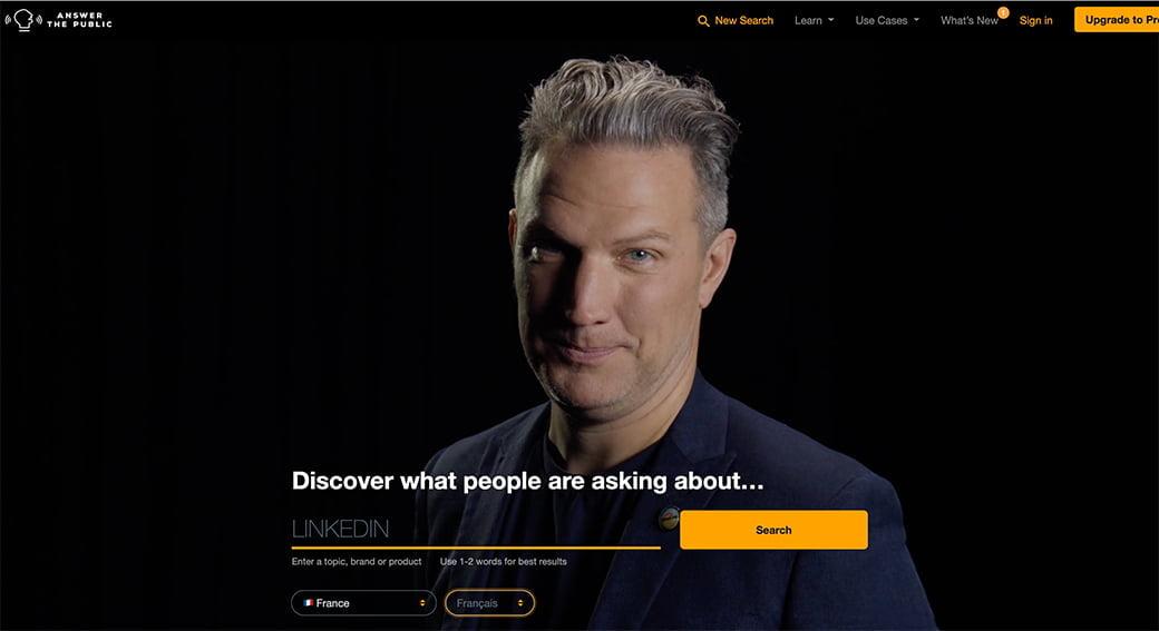 Answer the public, outil de la Web Box pour trouver des idées de posts