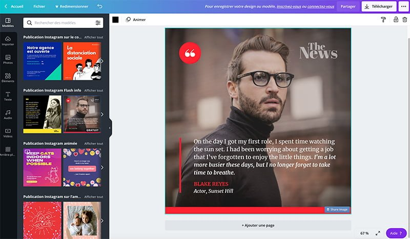 canva pour créer des visuels de pro pour les réseaux sociaux