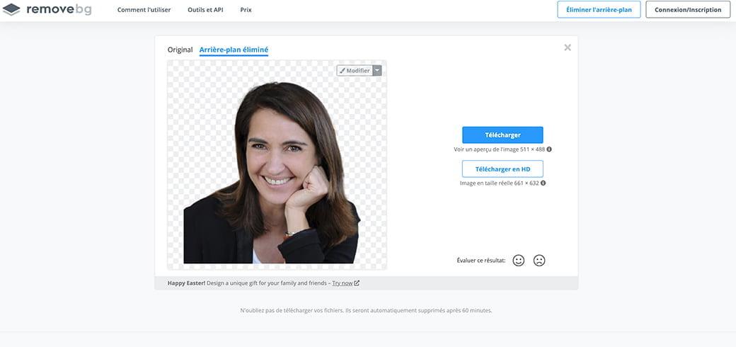 remove pour enlever le fond des images et avoir un fond transparent