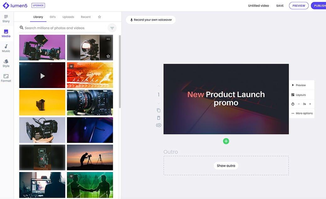 lumen 5 pour créer des vidéos simplement pour vos réseaux sociaux