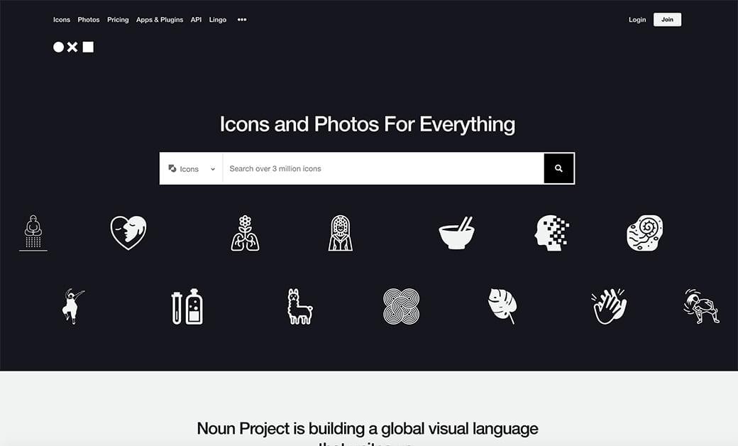 noun project pour avoir des pictos originaux pour les réseaux sociaux
