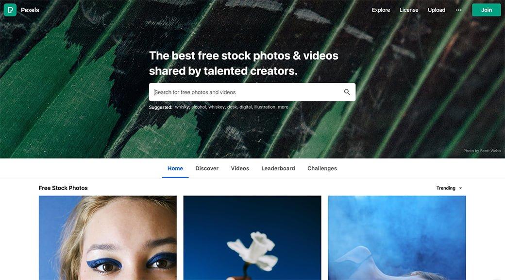 pexels, une banque d'images et de vidéos free, libres de droit