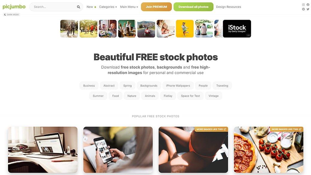 picjumbo, une base de données d'images gratuites libres de droit