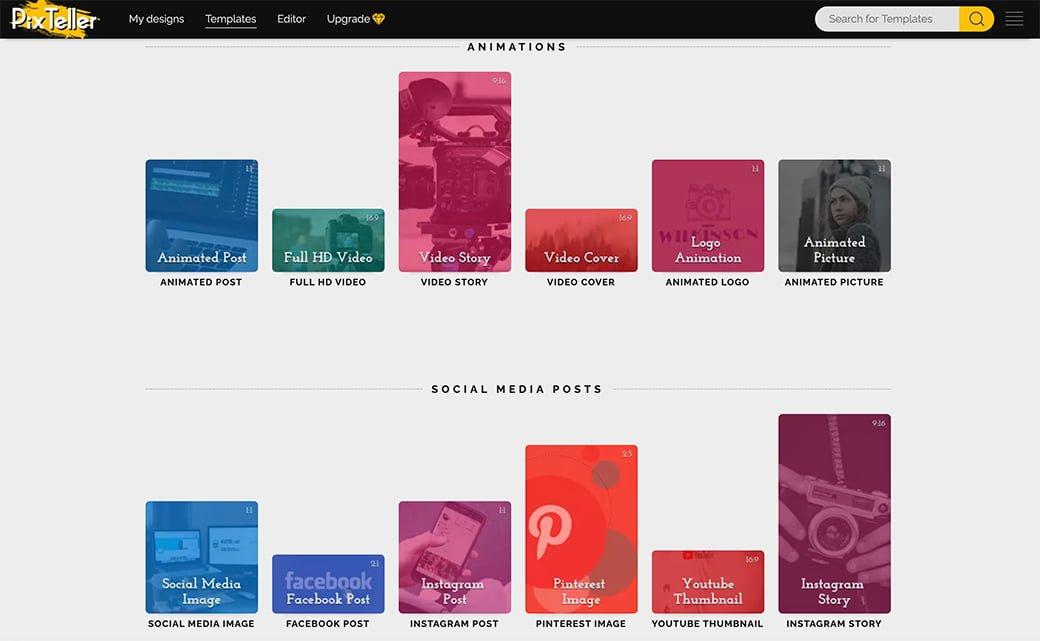 pixteller pour créer de beaux visuels pour les réseaux sociaux