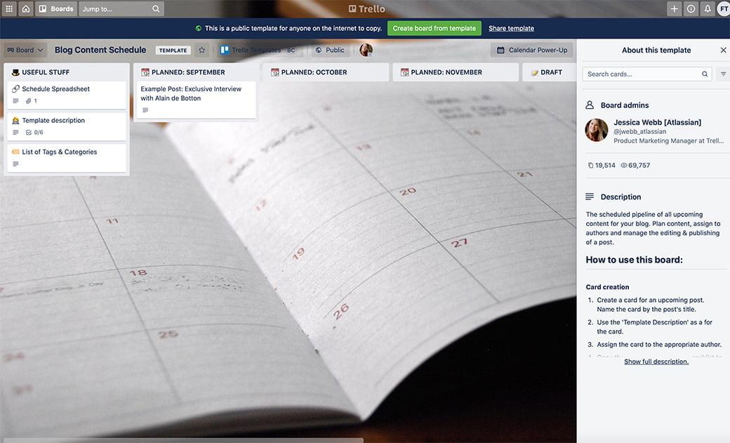 trello, pour organiser et planifier vos posts